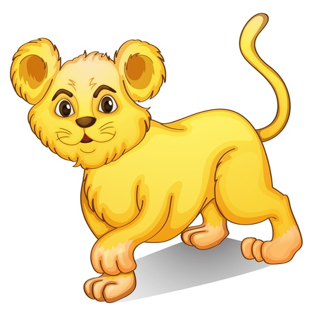 cub: illustration of a cub on a white background