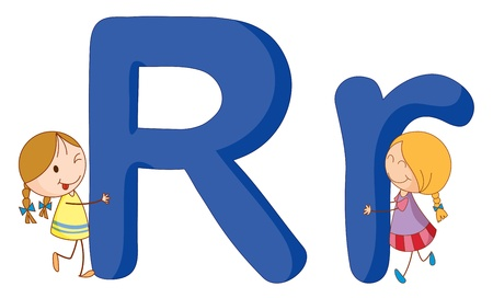 Illustration of children in a letter of alphabet Stock Vector - 14887371