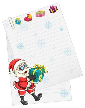 illustration of a santaclause on a white background Vector