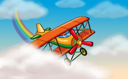 illustration of a aeroplane flying in the sky Vector