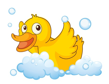 illustration of a yellow bird in the foam Stock Vector - 14922335