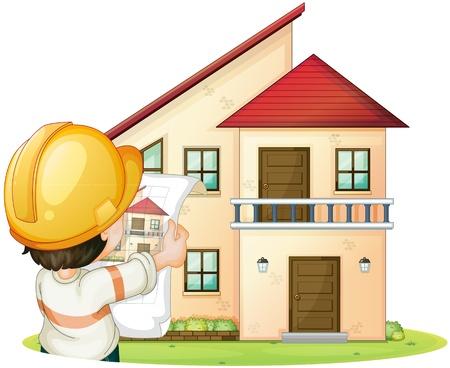 constructeur: illustration de la construction et de l'ing�nieur aa sur fond blanc