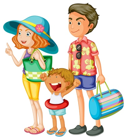 Illustration of an isolated family Vector