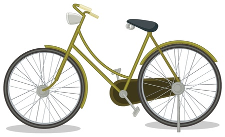Illustration of an old bike Vector