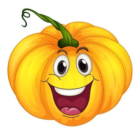 citrouille halloween: Illustration d'une citrouille heureux Illustration