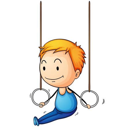 Illustration of a young gymnast Illustration