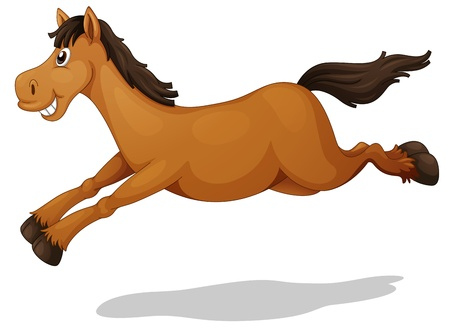 Illustration of a funny horse Vector