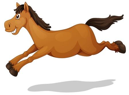 cavallo che salta: Illustrazione di un cavallo divertente Vettoriali