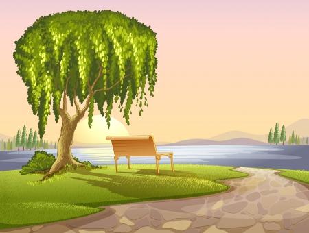 Illustration of a park scene Vector