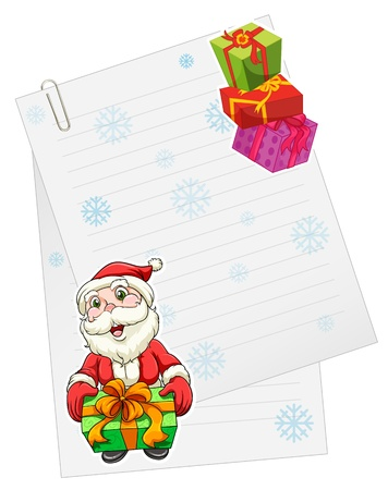 santaclause: illustration of a santaclause with gift box Illustration