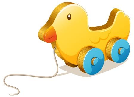 juguetes antiguos: Ilustración de un pato de juguete