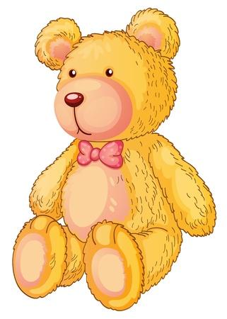 pl�schtier: Illustration eines gelben Teddyb�ren