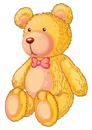 soft object: Illustration of a yellow teddy bear Illustration
