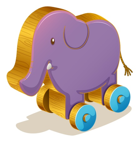 Illustration of a purple toy elephant Vector