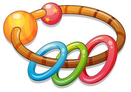 rattle: Illustration of a kids rattle Illustration
