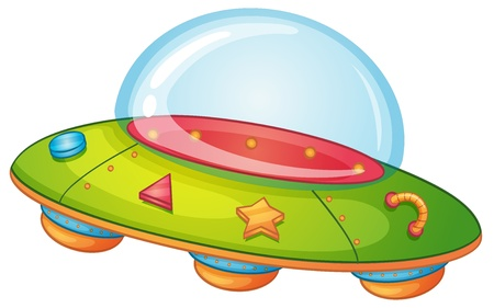Illustration of a UFO on white Vector