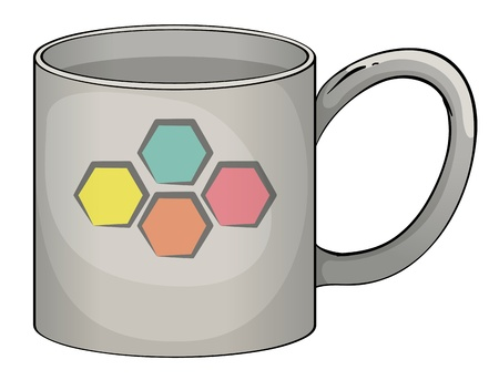 illustration of a mug in white background Vector