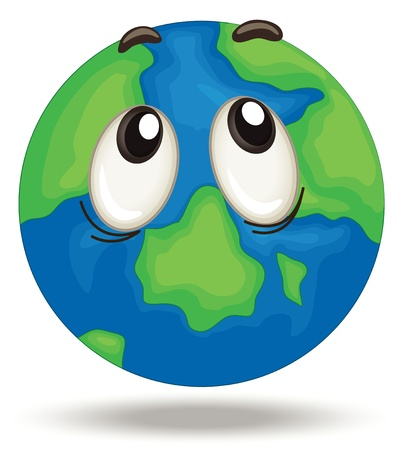 Illustration of a confused earth Stock Vector - 15028984