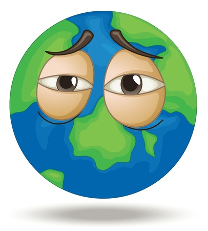 Illustration of a tired earth Stock Vector - 15029055