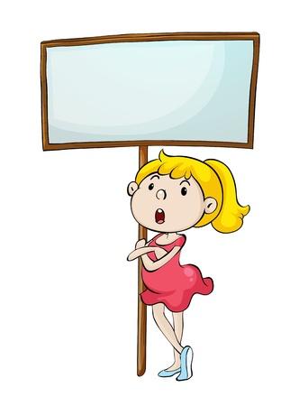 anger kid: Illustrazione di una ballerina con un segno