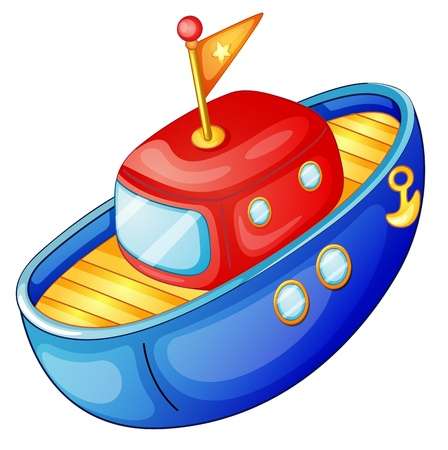 toy boat: illustration of a ship on a white background