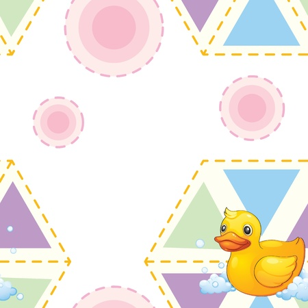 rubber ducks: Illustration of a seamless pattern