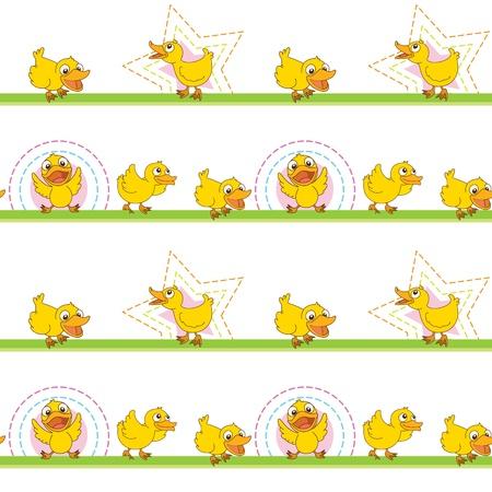 pollitos: Ilustración de un patrón transparente