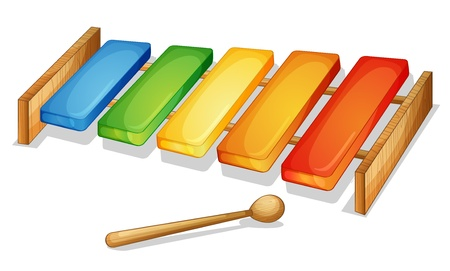 xilofono: Ilustración de xilófono sobre un fondo blanco