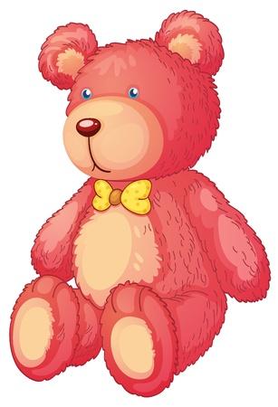 teddybear: illustration of a teddy bear on a white background Illustration