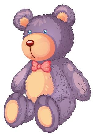pl�schtier: Illustration eines Teddyb�r auf einem wei�en Hintergrund