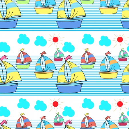 child's drawing: Illustration of a seamless pattern