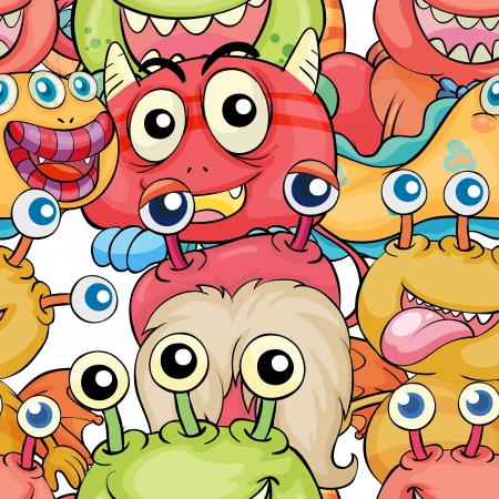 goblins: Illustration of a seamless pattern