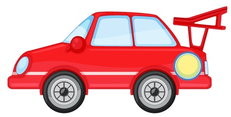 illustration of red car on a white background Vector