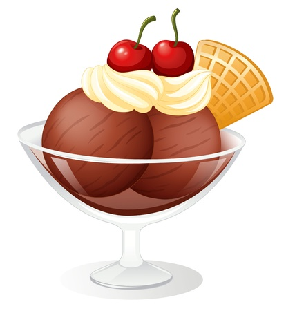 illustration of a Icecream on a white background Stock Vector - 15328554