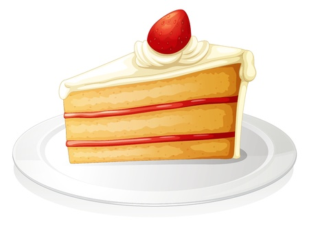 illustration of a pastry on a white background Vector