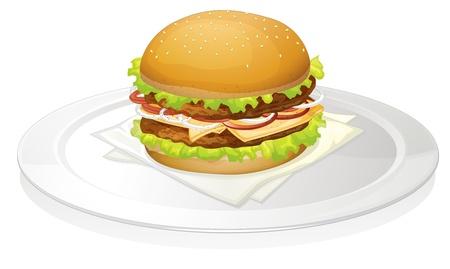 chutney: illustration of a burger on a white background