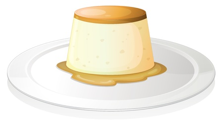 custard: illustration of a puding on a white background