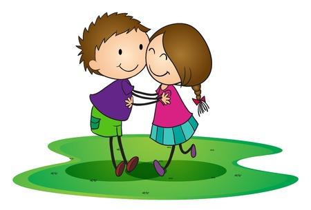 ilustración de un niños abrazándose unos a otros