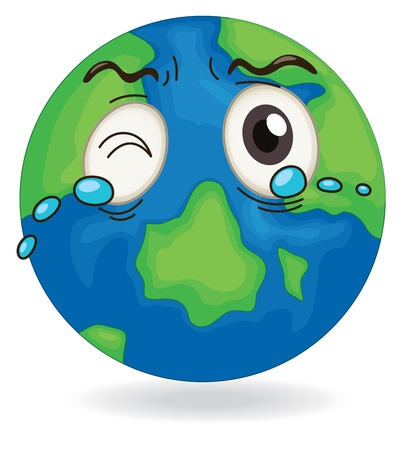 miserable: illustration of earth globe on on a white background