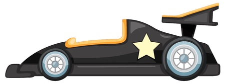 open car: illustration of black car on a white background Illustration