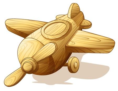juguetes de madera: ilustraci�n de un melanopus Amphiprion en blanco