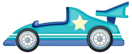 illustrazione di un auto blu su sfondo bianco