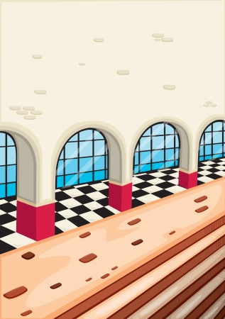 detailed illustration of an outside view of a building Vector