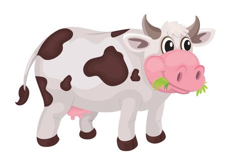 illustration of a cow on a white background Vector