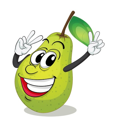 illustration of pear on a white background Vector