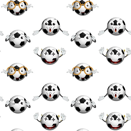 illustration of a football on a white background Stock Vector - 15592085