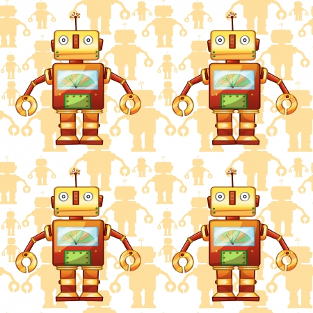 illustration of a robots on a white background Stock Vector - 15592083