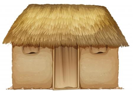 illustration d'une maison sur un fond blanc