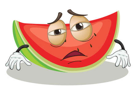 illustration of a watermelon on a white background Illustration