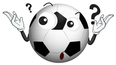 questioning: Illustration eines Fu�ball auf einem wei�en Hintergrund